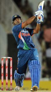 Mahendra Singh Dhoni bats for Amrapali