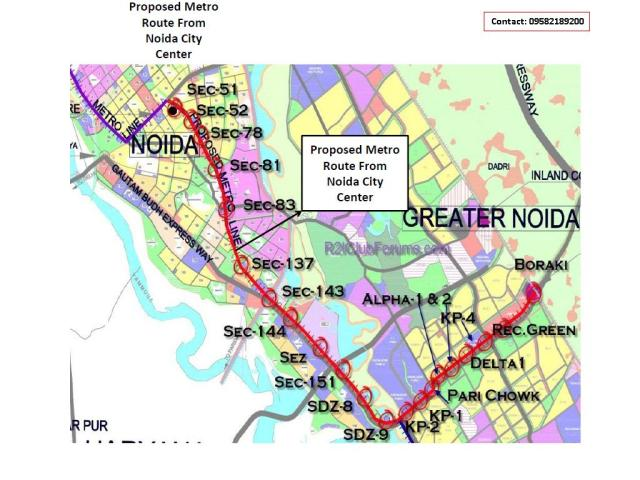 New Proposed Metro Stations in Noida, Greater Noida and Ghaziabad