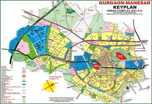 Keyplan Gurgaon Manesa